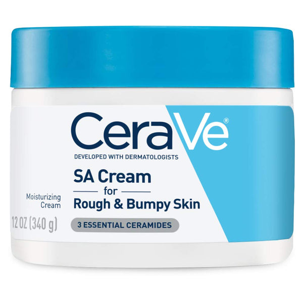 CeraVe SA Cream | 12 Ounce | Renewing Salicylic Acid Body Cream for Rough and Bumpy Skin