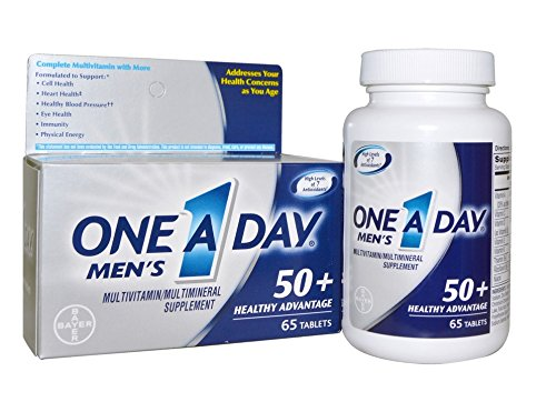 One A Day Men's 50+ Advantage Multivitamins, 65 Count