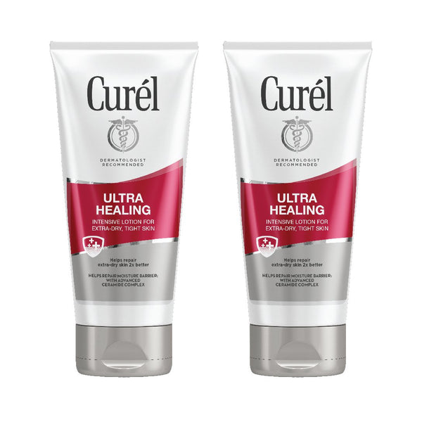 Curel Ultra Healing Intensive Lotion for Extra-Dry, Tight Skin, 6 Ounces (Pack of 2)