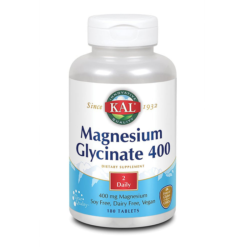 Kal - Magnesium Glycinate 400 Mg - 180 Tablets