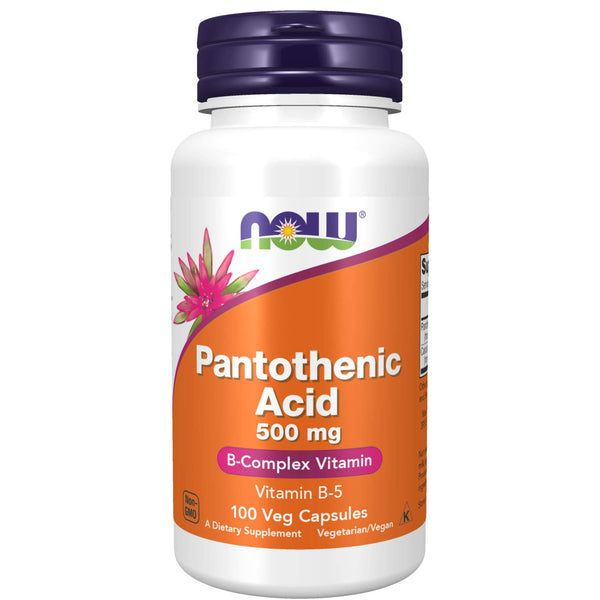 Now Supplements, Pantothenic Acid 500 mg, 100 Capsules : 100 Count(Pack of 1)