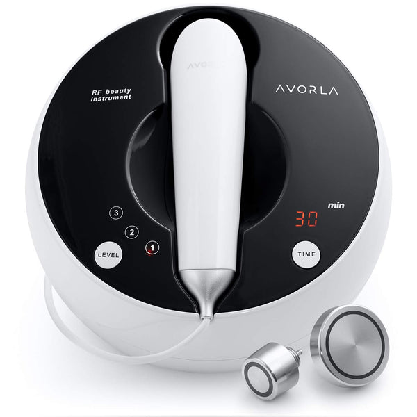 Avorla High Frequency Skin Tightening Machine- Anti Aging Device for Wrinkle Reduction and Skin LiftAt-Home Facial Massager Wand Professional Face & Body Skin Care Beauty Tools, Black