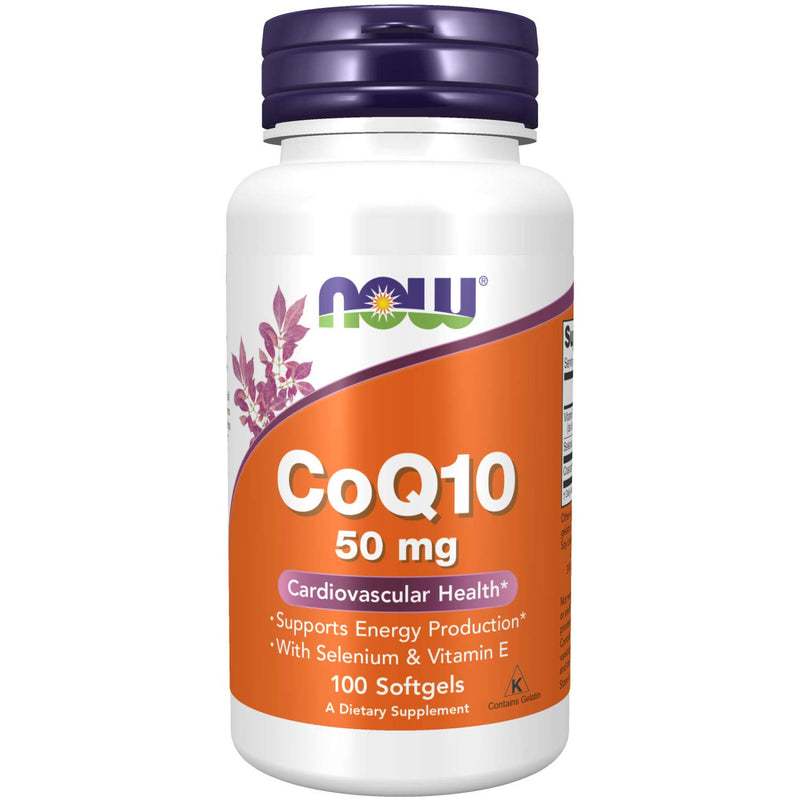 Now Foods, CoQ10, With Selenium and Vitamin E, 50 mg, 100 Softgels