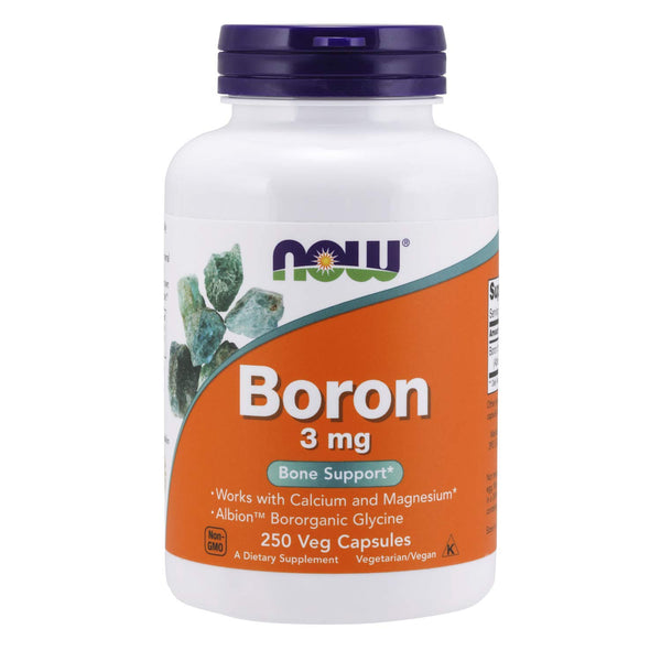 Now Foods Boron 3 Mg - 250 Capsules