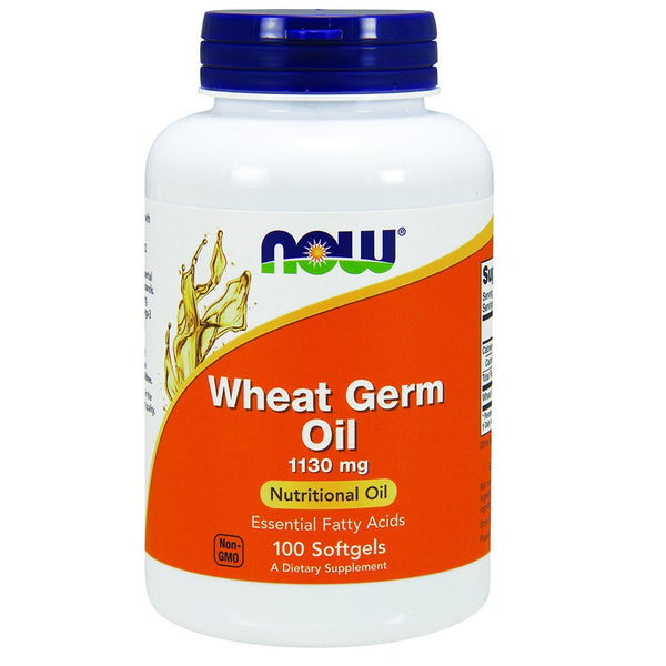 NOW Foods NOW Wheat Germ Oil, 100 Softgels