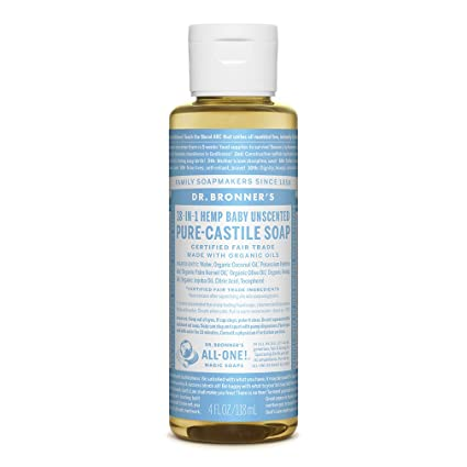 Dr. Bronners Pure Castile Liquid Soap, 4 Ounce