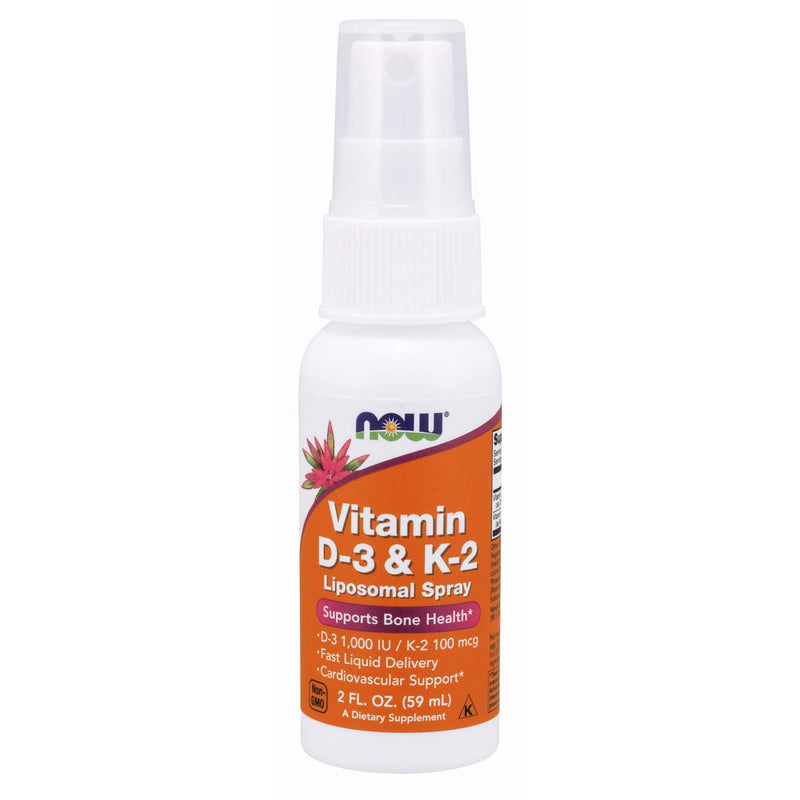 Now Foods Vitamin D - 3 and K - 2 Liposomal Spray - 59 ml
