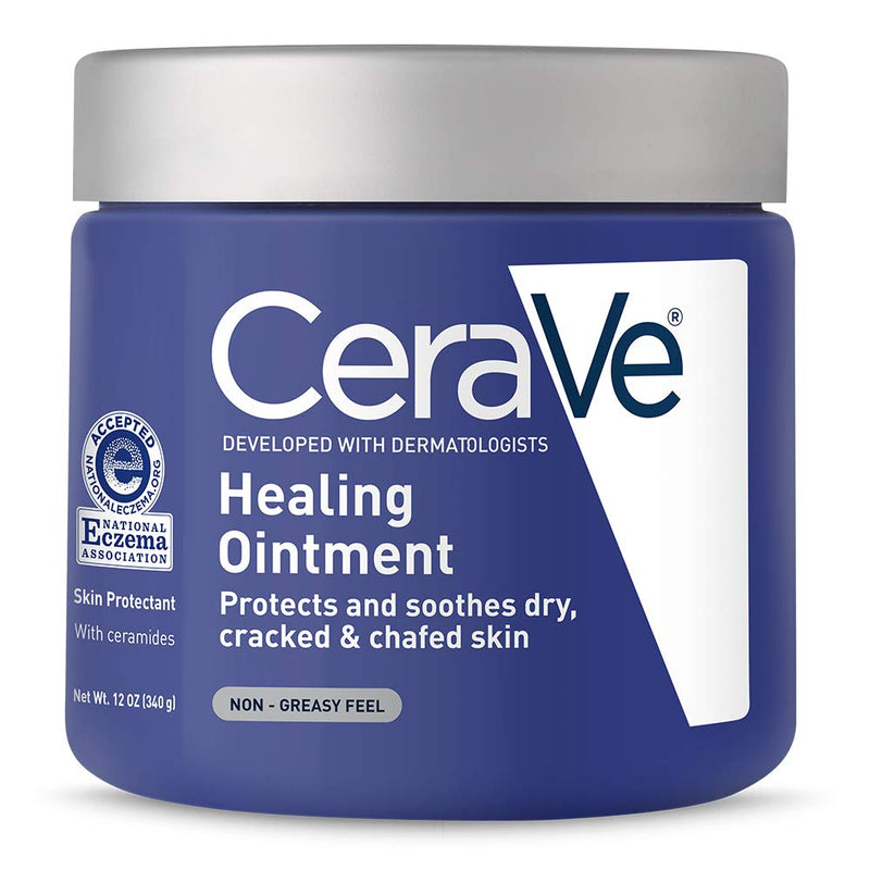 CeraVe Healing Ointment, 12 Ounce, Cracked Skin Repair Skin Protectant