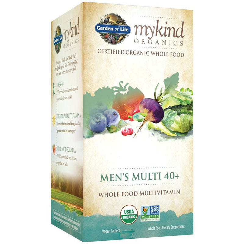 mykind Mens 40+ Whole Food Vitamin, Vegan, 120 Tablets