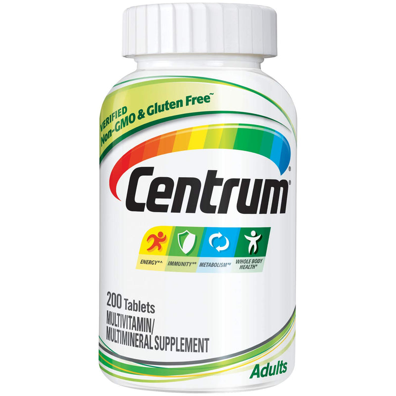 Centrum Multivitamin Multimineral Supplement For Adults 200 Tablets
