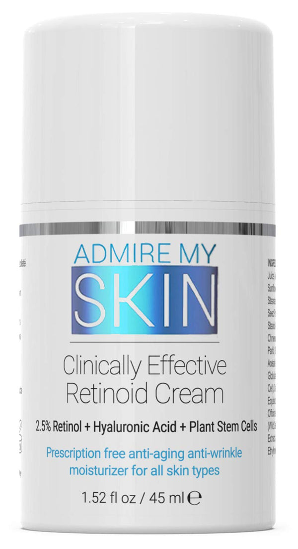 Retinoid Moisturizer Cream For Acne Prone Skin - Compare To Tretinoin, Retin A Cream & Retin A Micro Gel, Contains Retinoic Acid For A Potent Anti Aging Moisturizer For Face and Skin