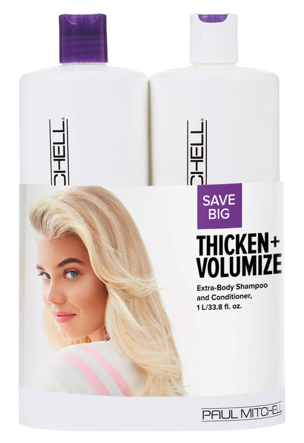 Paul Mitchell Thicken And Volumize Extra Body Liter Duo