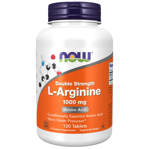 Now Foods Double Strength L Arginine 1000 Mg Tablets - 120 Count