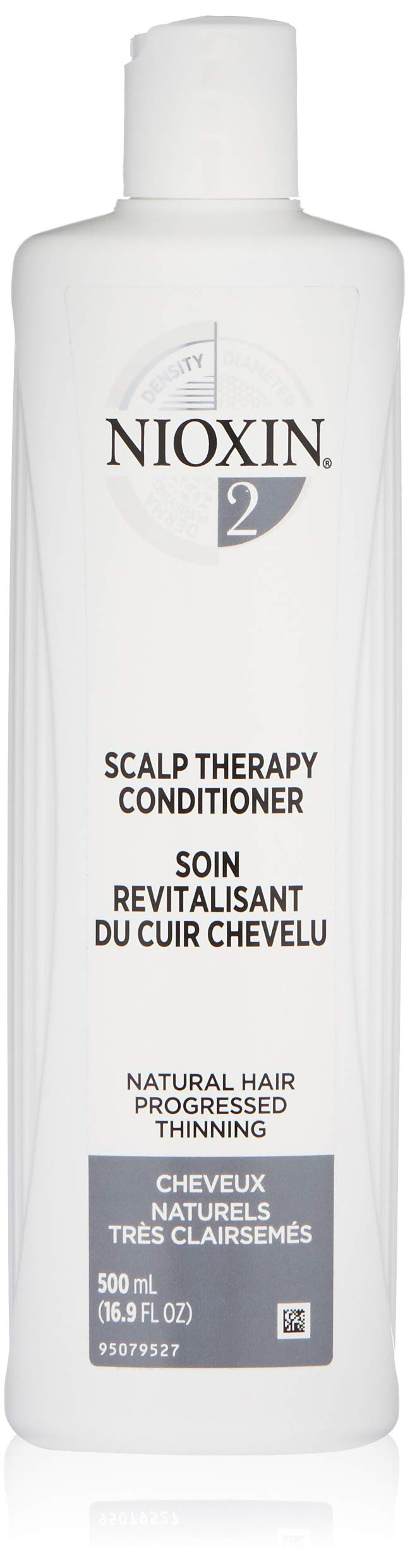 Nioxin System 2 Scalp Therapy Conditioner, Peppermint Oil, 16.9 oz.