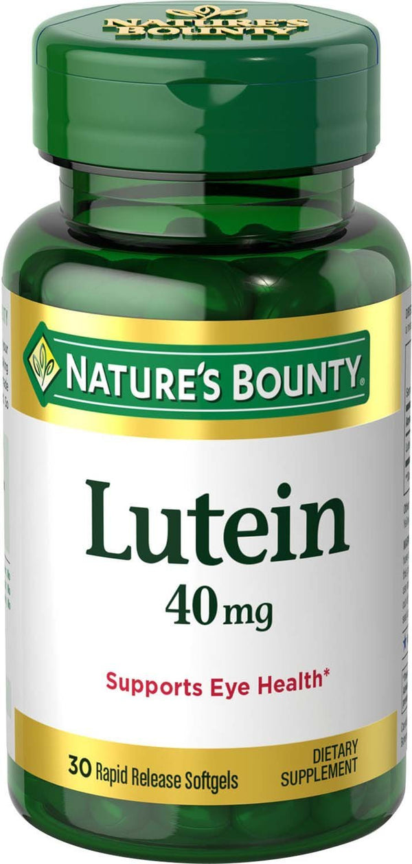 Nature's Bounty Lutein 40 mg 30 Softgels