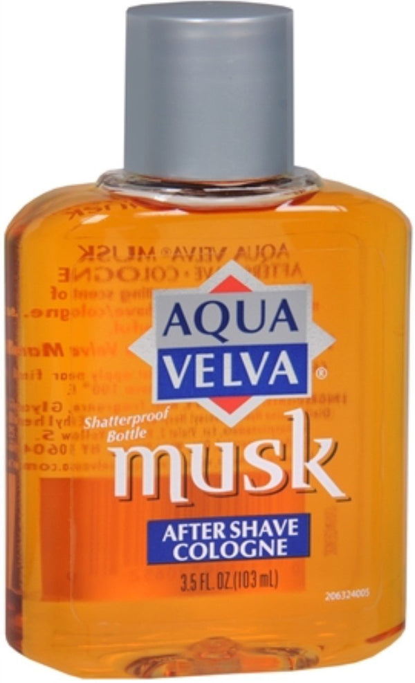 Aqua Velva Musk After Shave Cologne 3.50 oz (Pack of 2)