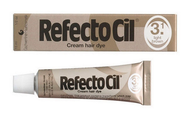 RefectoCil RefectoCil Eyelash & Eyebrow Tint Color, 3.1 Light Brown 0.5 oz