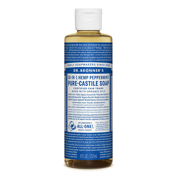 Dr. Bronners Magic Pure-Castile Soap Organic Peppermint, 237ml
