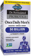 Garden of Life Probiotic Supplement for Men - Dr. Formulated Once Daily Mens for Digestive Health, Shelf Stable, 30 Capsules