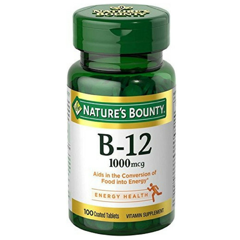 Nature's Bounty Vitamin B12 Supplement, Supports Metabolism and Nervous System Health, 1000mcg, 100 Tablets