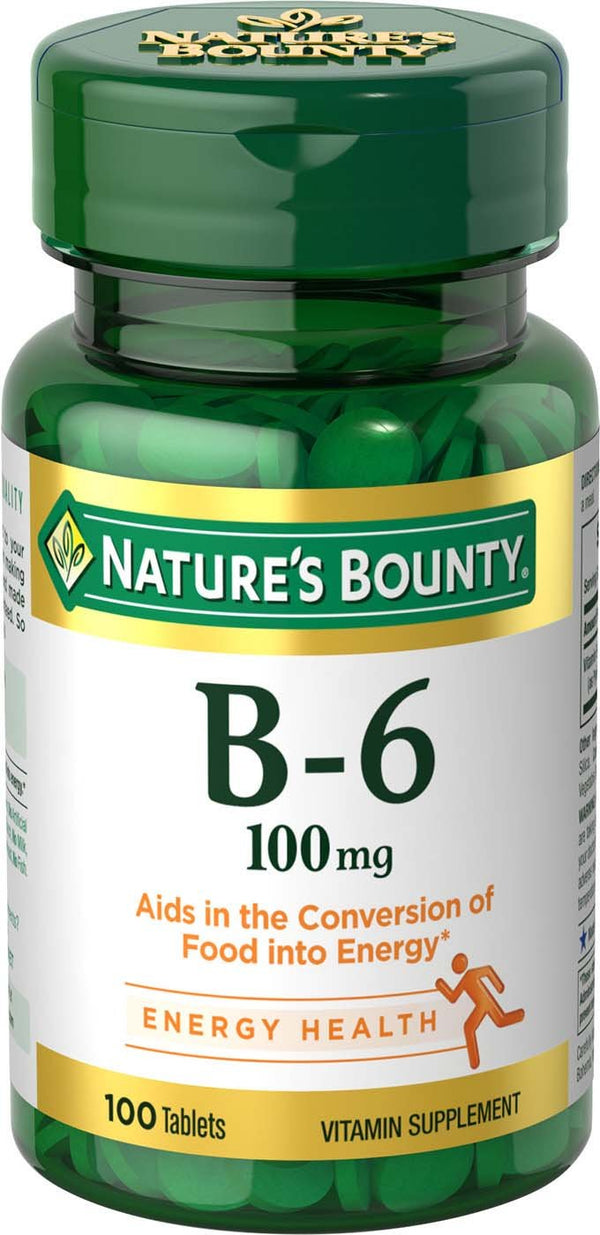 Nature's Bounty Vitamin B6 100 Tablets (100 mg)