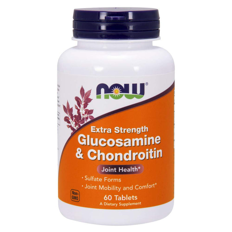 NOW Foods Extra Strength Glucosamine and Chondroitin Sulfate, 60 Tablets