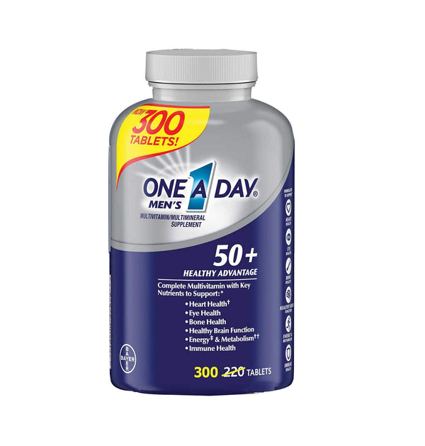 One-A-Day Men's 50+ Multivitamin (300 Tablets)