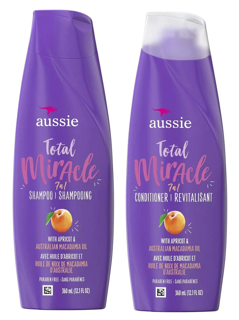 Aussie Total Miracle Collection 7n1 Shampoo And Conditioner Set, 12.1 Fluid Ounce