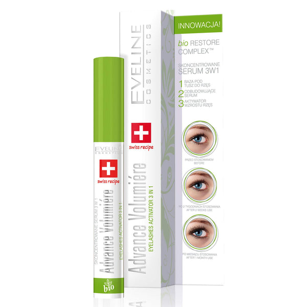 Eveline Eyelash Growth Activator Concentrated Serum 3 in 1 Advance Volumiere
