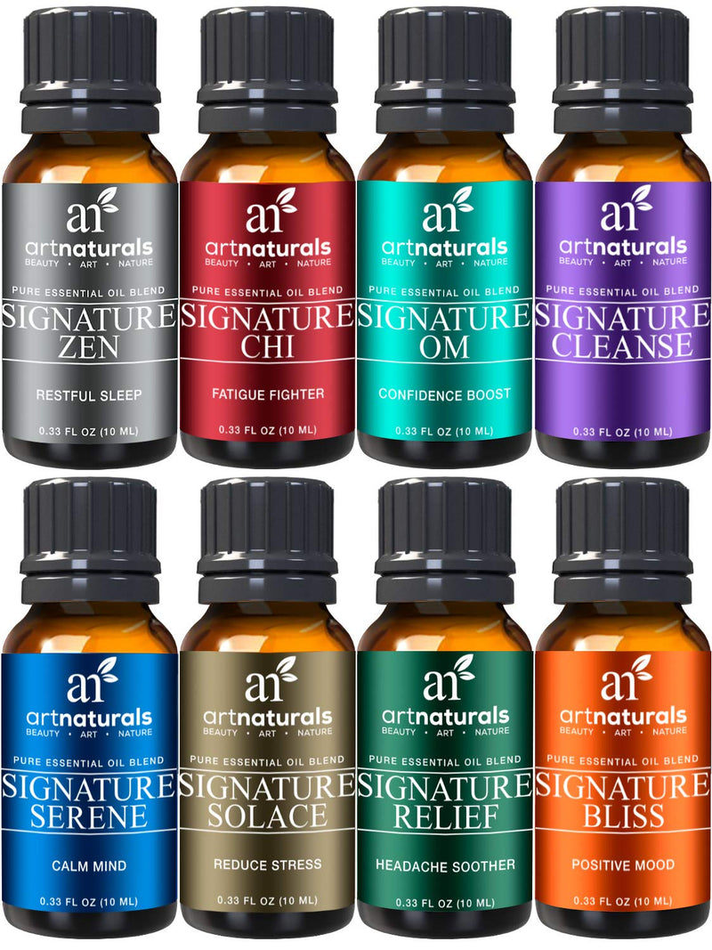 ArtNaturals Therapeutic Grade Top 8 Essential Oils Set 2016 Edition Kit , 10 ml Each