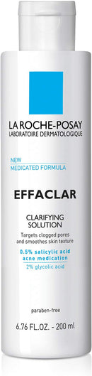 La Roche-Posay Effaclar Clarifying Solution Facial Toner for Acne Prone Skin with Salicylic Acid and Glycolic Acid