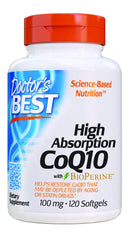 Doctor Best High Absorption CoQ10 with BioPerine 100 mg 120 Softgels