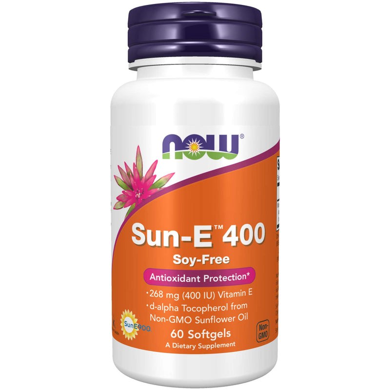 Now Foods Sun-E 400 IU SF Softgels, 60 Count