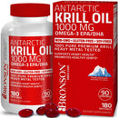 Bronson Vitamins Antarctic Krill Oil 1000 mg with Astaxanthin, 180 Softgels
