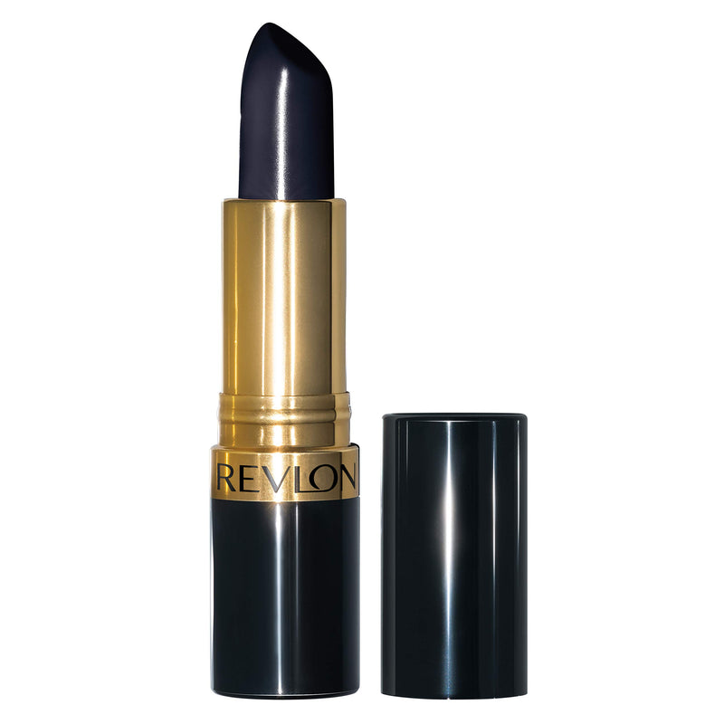 Revlon Super Lustrous Lipstick, High Impact Lipcolor with Moisturizing Creamy Formula, Infused with Vitamin E and Avocado Oil in Blue / Black, Midnight Mystery (043)