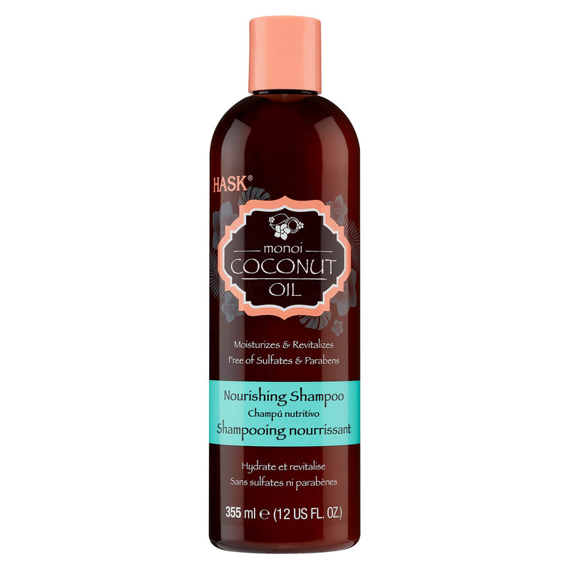 Hask Monoi Coconut Oil Nourishing Shampoo, 12 Ounce