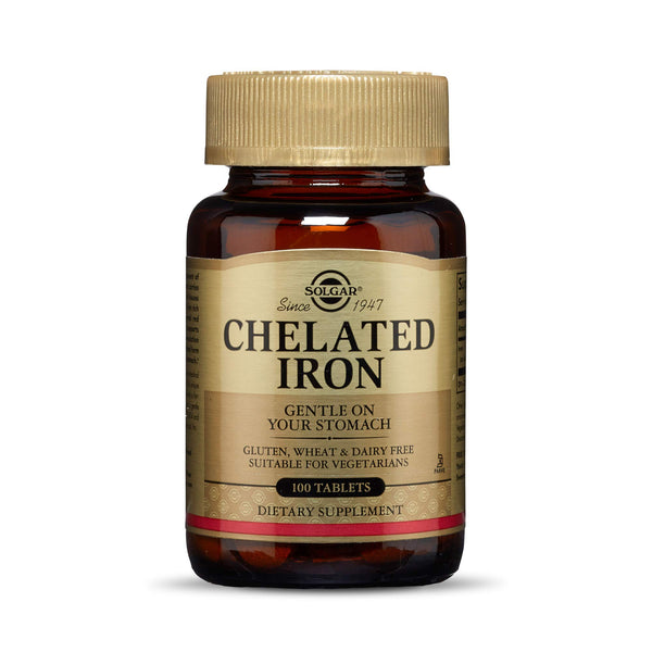 Solgar – Chelated Iron, 100 Tablets