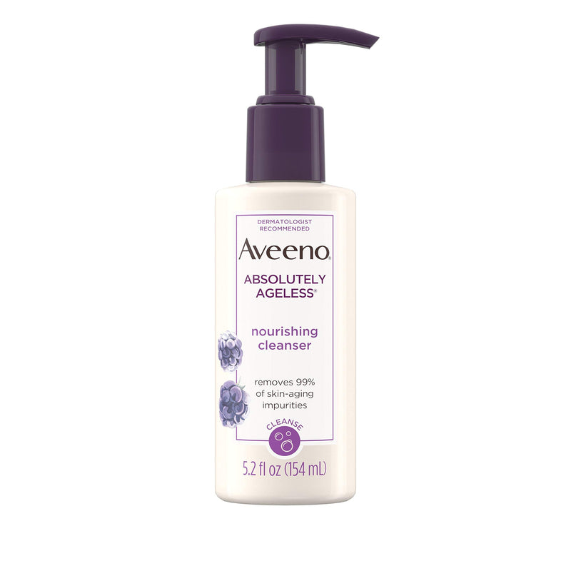 Aveeno Absolutely Ageless Facial Nourishing Anti-Aging Cleanser, 5.2 Fl. Oz