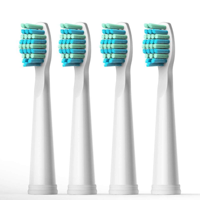 Fairywill Electric Toothbrush Brush Head White x4 for Models of FW-917/ FW-507/ FW-508/ FW-959/FW-551 Sonic Toothbrushes