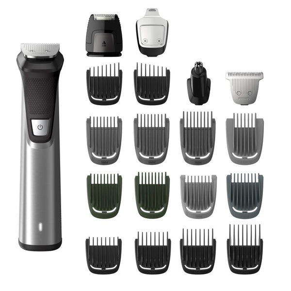 Philips Norelco MG7750/49 Multigroom Series 7000, Men's Grooming Kit with Trimmer for Beard, Head, Body, and Face - No Blade Oil Needed, Silver