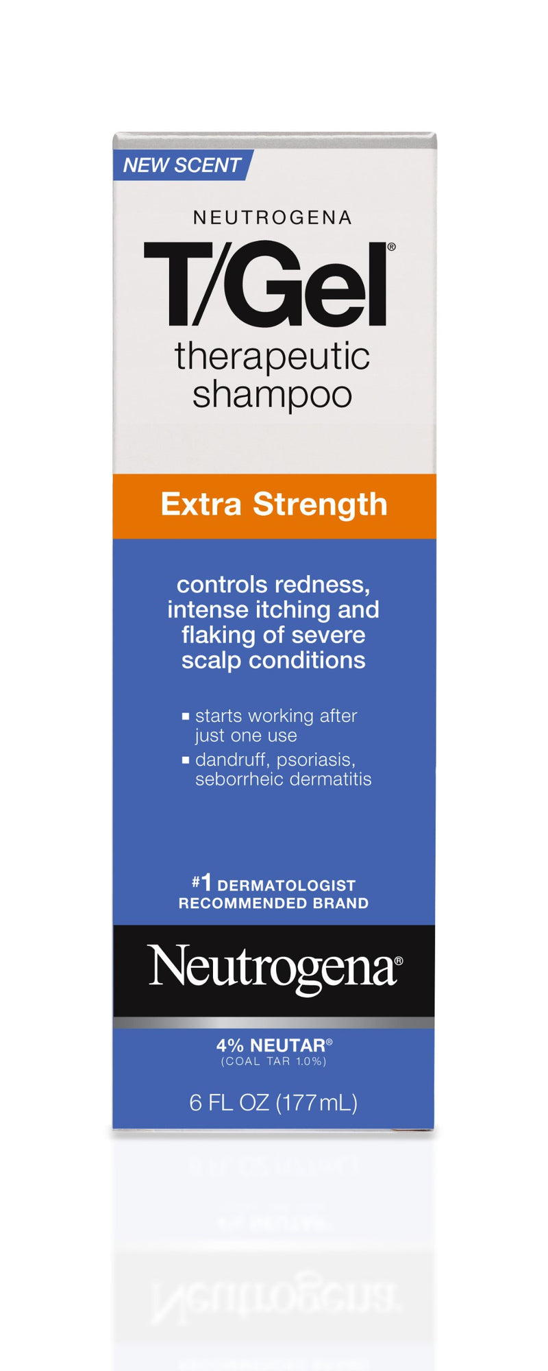 Dandruff Shampoo Neutrogena® T/Gel® Extra Strength 6 oz. Flip Top Bottle Scented