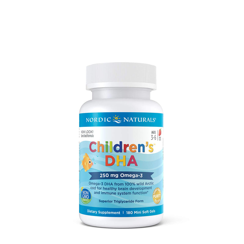 Nordic Naturals Ultimate Omega Children's DHA Formula, 250 mg (Strawberry 180 So)