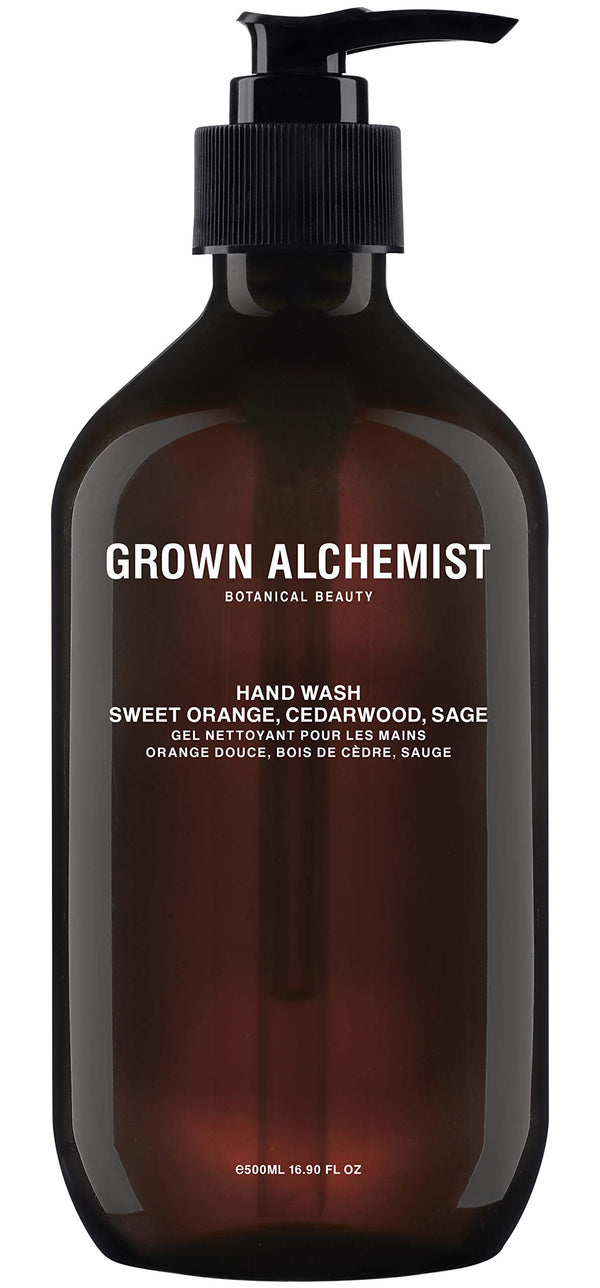 Grown Alchemist Hand Wash - Sweet Orange, Cedarwood & Sage - Liquid Hand Soap, Clean Skincare (500ml / 16.9oz Pump Bottle)