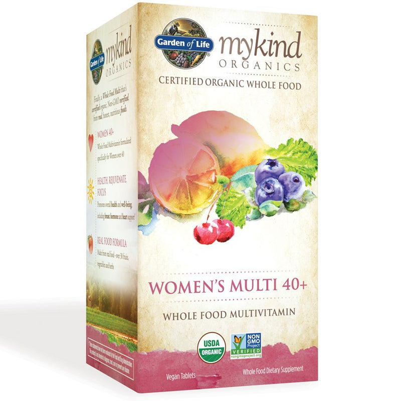 mykind Womens 40+ Whole Food Vitamin, Vegan, 120 Tablets