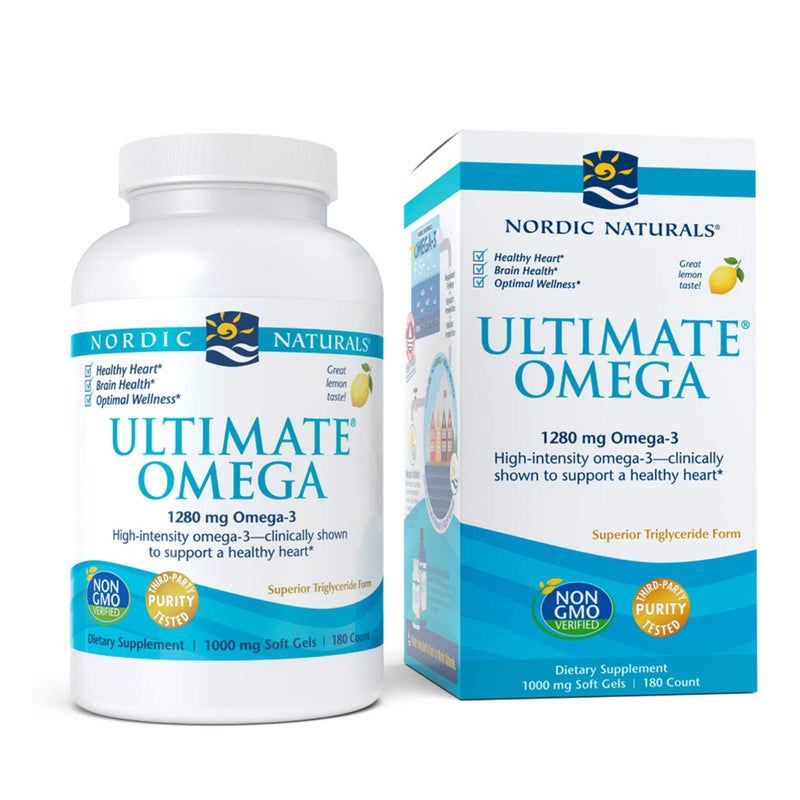 Nordic Naturals, Ultimate Omega, Lemon, 1000 mg, 180 Soft Gels