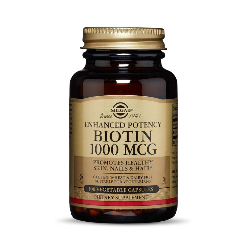 Solgar - Biotin 1000 mcg, 100 Vegetable Capsules