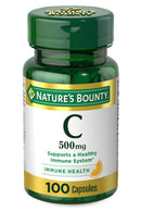 Vitamin C by Nature's Bounty, Immune Support, Vitamin C 500mg, 100 Capsules, White