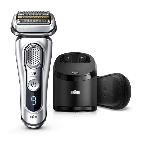Braun Electric Razor for Men, Series 9 9390cc, Electric Shaver, Precision Trimmer, Rechargeable, Cordless, Wet & Dry Foil Shaver