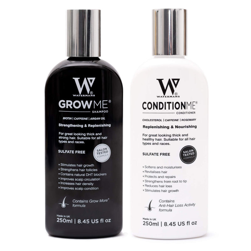 Hair Growth Shampoo and Conditioner by Watermans - Combo Pack - Best Hair Growth System for women and men