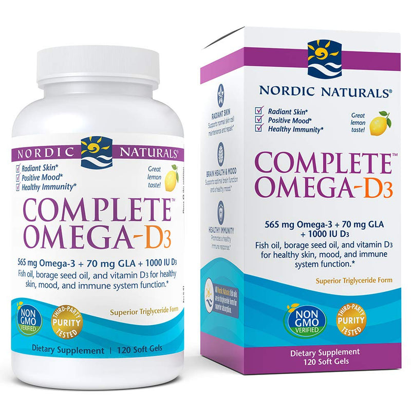 Nordic Naturals Complete Omega 3-6-9 with D Soft Gels, 1000 mg, 120-Count Bottle